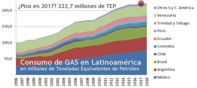 2019 Gráfico 1.4 gas consumo